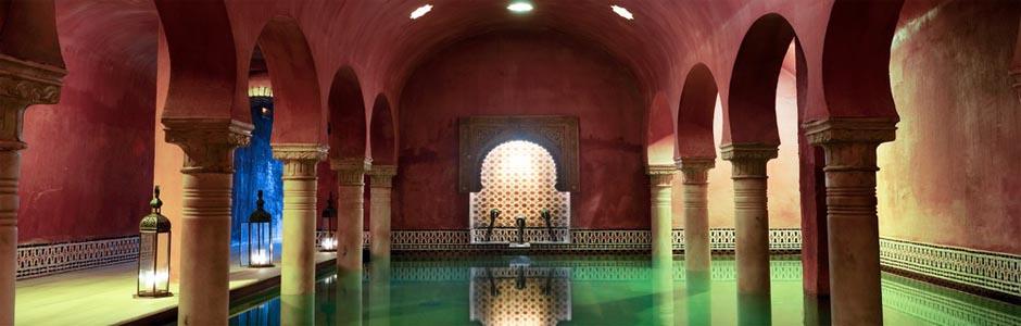 Arab baths in Granada, Andalucia, Spain